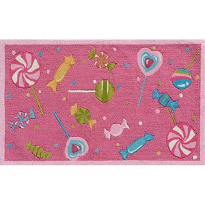 Whimsical Fuchsia and Pink Rectangular: 2 Ft. 8 In. x 4 Ft. 8 In. Rug