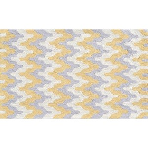 Surge Yellow and Gray Rectangular: 4 Ft. 7 In. x 7 Ft. 7 In. Rug