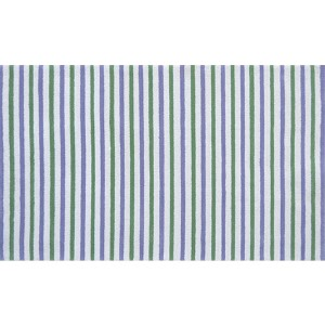 Stripes White and Green Rectangular: 4 Ft. 7 In. x 7 Ft. 7 In. Rug