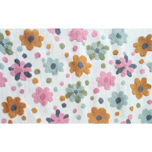 Floral Spring Flower Bloom Multicolor Rectangular: 2 Ft. 8 In. x 4 Ft. 8 In. Rug