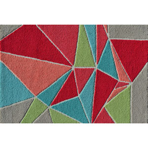 Fragment Multicolor Rectangular: 2 Ft. 8-inch x 4 Ft. 8-inch Area Rug