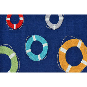 Life Saver Multicolor Rectangular: 2 Ft. 8-inch x 4 Ft. 8-inch Area Rug