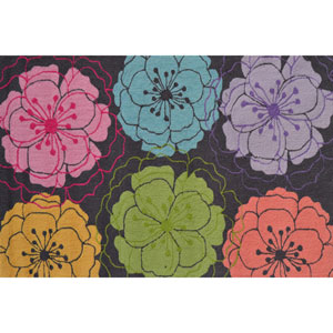 Zelda Floral Gray Rectangular: 2 Ft. 8-inch x 4 Ft. 8-inch Area Rug
