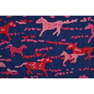 Gelding Pink Rectangular: 2 Ft. 8-inch x 4 Ft. 8-inch Area Rug