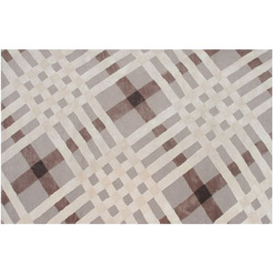 Ecconox Brit Plaid Brown and Gray and Red Rectangular: 5 Ft. x 8 Ft.