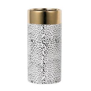 Matte black and Matte Gold 5-Inch Ceramic Vase