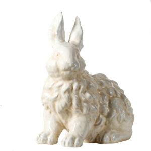 White 11-Inch Ceramic Bunny Figurine