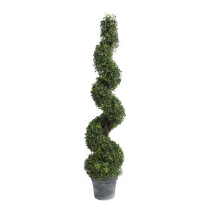 Green 48-Inch Spiral Boxwood Topiary