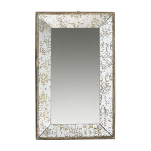 Dorthea Gold And Mirrored Rectangular Hanging Mirror