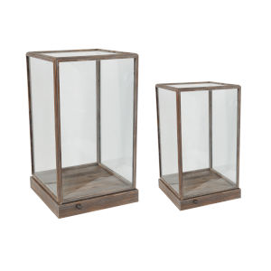 Xylon Natural Glass Display Squares, Set of 2