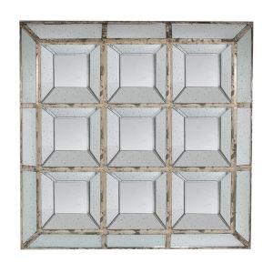 Aged Silver Square Mirror
