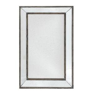 Mirrored And Brown Rectangular Mirror