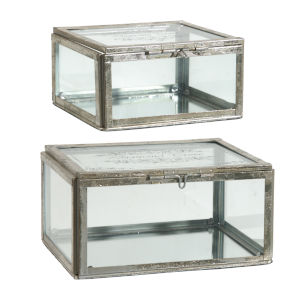 Silver Jewelry Box, Set of 2