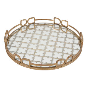 Valentina Vintage Gold Decorative Tray, Medium