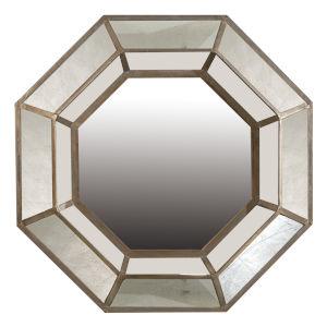 Brown Octagonal Mirror
