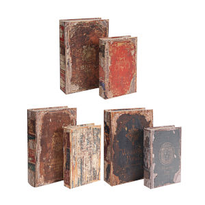 Brown And Multicolor Book Box, Set of 6