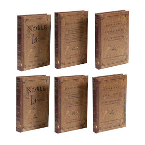 Brown Book Box, Set of 3