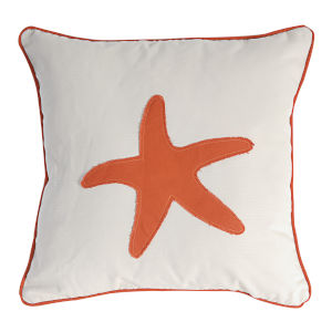 Orange Starfish Pillow