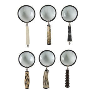Hatton Meryl Brown Magnifying Glasses, Set of 6