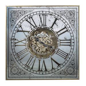 Arria Randall Antique Silver Square Wall Clock