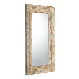 Colfax Antique White Floor Mirror