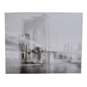 Foggy Gray Streetscape Wall Art