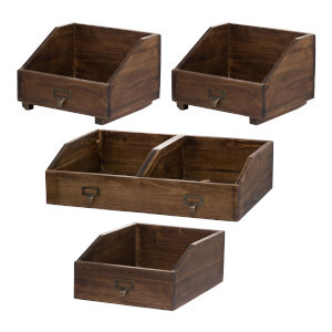 Amell Brown Decorative Box, Set of 4