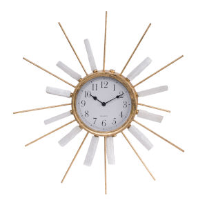 Dulcie Gold And Silver Beam Clock