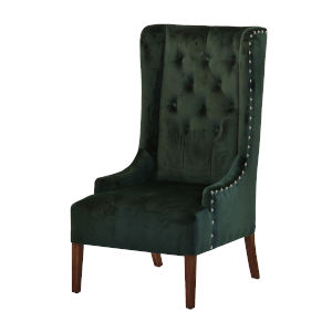 Green Upholstered Arm Chairs