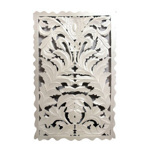 White Carved Out Wall Decor