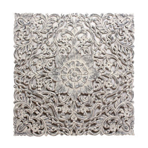 Antique White Carved Out Wall Decor