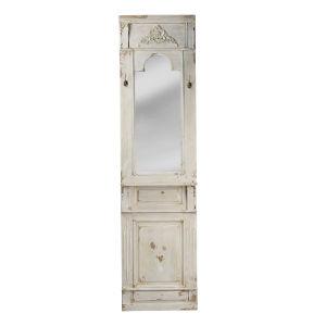 Antique White Wall Mirror