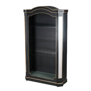 Black and Gold Mirrored Cabinet