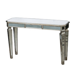 Silver and Gold 56-Inch Mirror Console Table