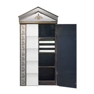 Silver and Gold Mirror Cabinet