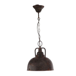 Antique Bronze One-Light Dome Pendant