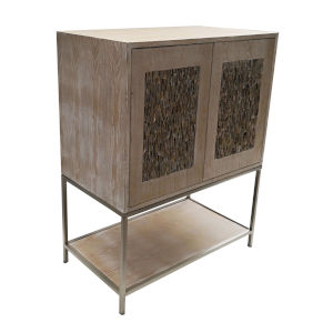Natural Champagne Two-Door Wooden Cabinet