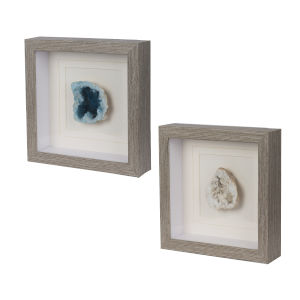 Nature and Blue Colorful Stone Square Wall Art