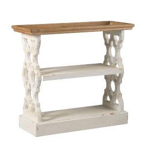 Distressed White Free Standing Shelf