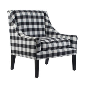 Black Plaid Arm Chairs