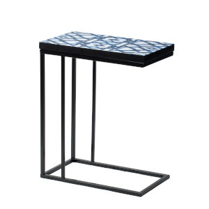 Black and Indigo 24-Inch End Table