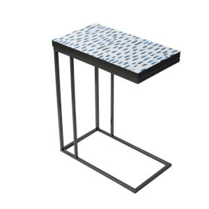 Black and Indigo 20-Inch End Table