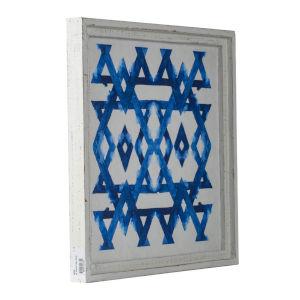 White and Indigo 17-Inch Decorative Wall Decor ,Set of 2