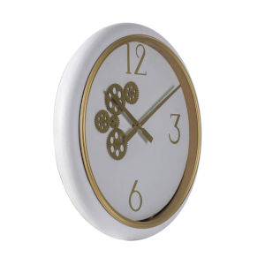 White 21-Inch Wall Mounted Clock