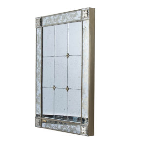 Antique Silver and Cream Wall Mirror