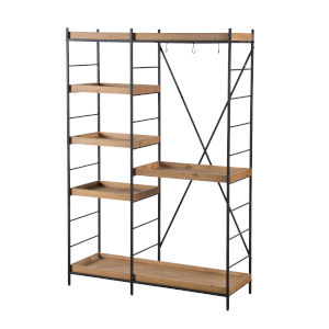 Matte Black 48-Inch Free Standing Shelf