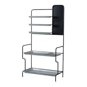 Matte Black 36-Inch Free Standing Shelf
