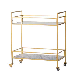 Polished Gold Two layer Cart