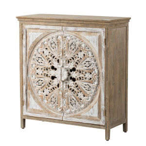 Brown and Whitewash Cabinet