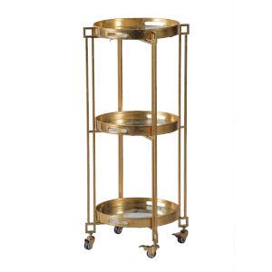 Polished Gold Bar Cart